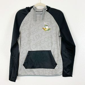 Nike Black & Gray Oregon Duck Hooded Sweatshirt M